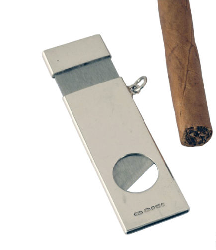 Sterling Silver Rectangle Cigar Cutter NEW