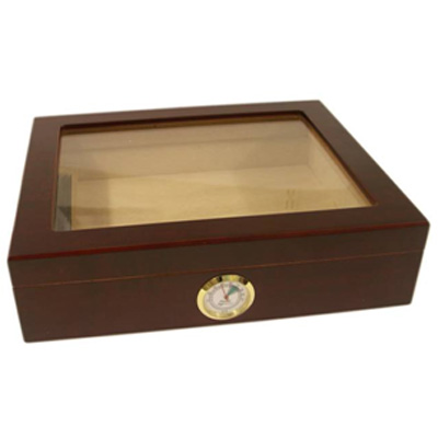 Classic Mahogany Humidor - Mixed Veneer - 20 Cigar capacity NEW