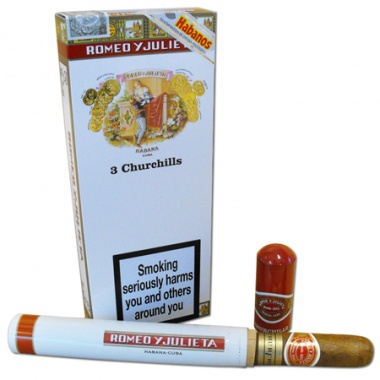 Romeo y Julieta Churchills Tubos - Pack of 3