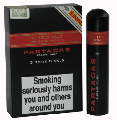 Partagas Serie D No. 5 Tube - 3\'s NEW