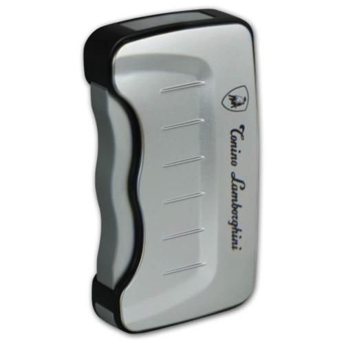 Lamborghini Tonino Eridanus Jet Lighter - Silver & Black NEW