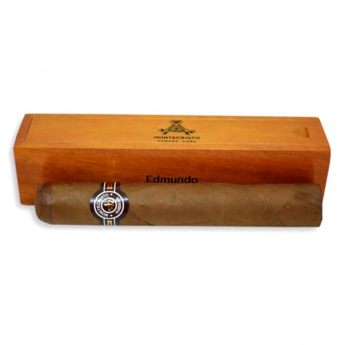 Montecristo Edmundo Cigar - 1 Single in Varnished Slide Lid Box (Coffin)