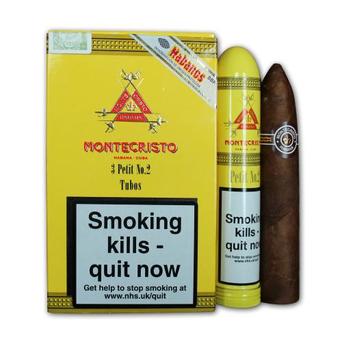 Montecristo Petit No.2 Tubo - Pack of 3