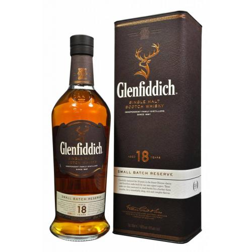 Glenfiddich 18 Year Old Small Batch Reserve Single Malt Scotch Whisky - 70cl 40%