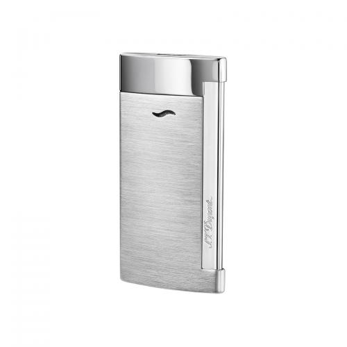ST Dupont Slim 7 – Flat Flame Torch Lighter - Brushed Chrome