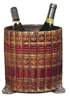 Boardroom Wine Cooler with \'Faux\' Book Covering