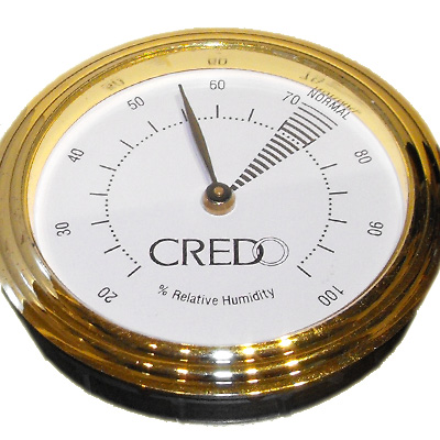 Credo Hygrometer Brass (55mm)