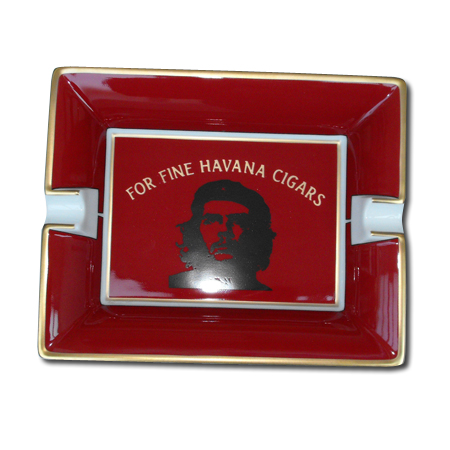 Elie Bleu Che Red Porcelain Ashtray