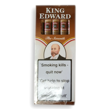 King Edward Wood Tipped Amber Cigars - Pack of 5