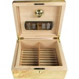 Maple Burl 25 Cigar capacity Humidor & Lock