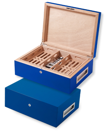 Villa Spa Cigar Humidor – up to 200 cigars capacity – Blue NEW