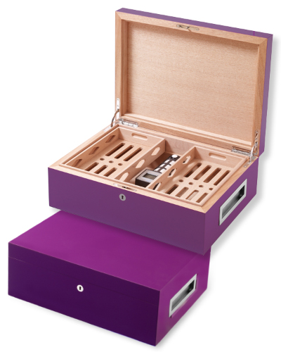 Villa Spa Cigar Humidor – up to 200 cigars capacity – Purple