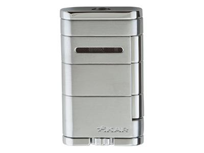 Xikar Allume Single Jet Lighter - Silver