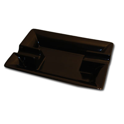Black Ceramic Cigar Ashtray NEW