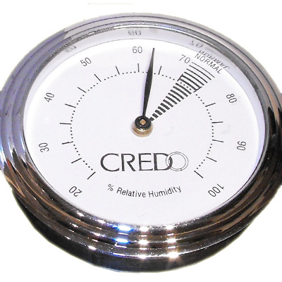 Credo Hygrometer Chrome (55mm)