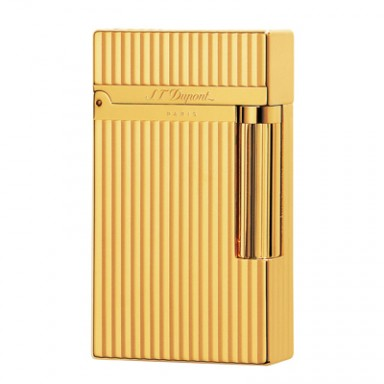ST Dupont Lighter - Ligne 2 - Gold Vertical Lines