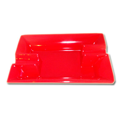 Ceramic Cigar Ashtray - Red