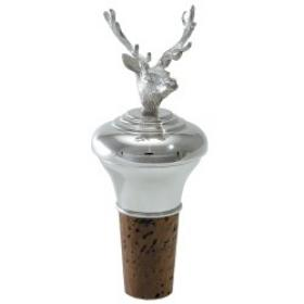 Stags Head Silver Bottle Stopper