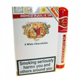 Romeo y Julieta Wide Churchill Tubo - Pack of 3