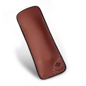 LES FINES LAMES Le Petit Leather Cigar Pocket Knife Cutter Case - Tan