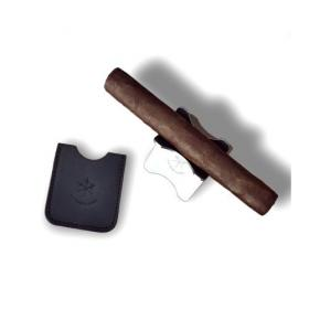 Les Fines Lames Leather Cigar Stand - Black