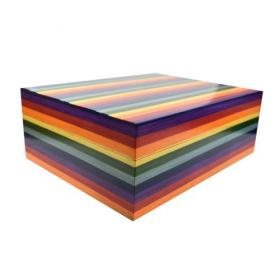 Jemar Rainbow Collection Multicoloured Humidor - 70 Cigar Capacity