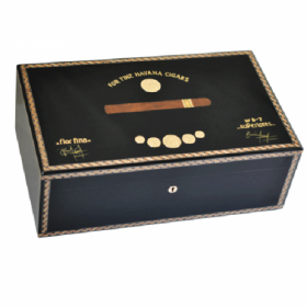 Elie Bleu Medals Collection Black Humidor - 120 Cigar