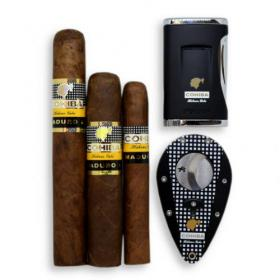 Cohiba Maduro 5 Cigars + Cutter and Lighter Set Sampler