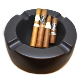 Davidoff Black Ashtray and Cigar Selection Sampler - 4 Cigars