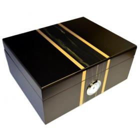 Matt Black with Centre Detailing Humidor - 50 Cigar