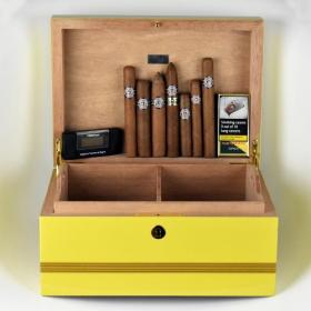 Montecristo Humidor and Cigar Selection Sampler - 17 Cigars