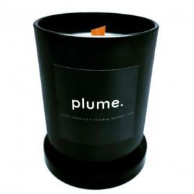 Plume Candle - Tobacco, Leather & Oak