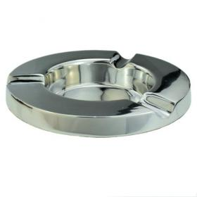 Simply Aluminium 3 Cigar Round Cigar Ashtray