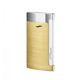 ST Dupont Slim 7 – Flat Flame Torch Lighter - Brushed Yellow Gold