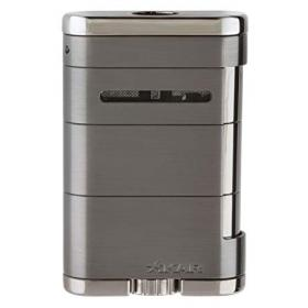 Xikar Allume Triple Jet Table Top Lighter - Gunmetal