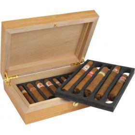 adorni deluxe travel cedro cigar humidor 10 cigar capacity - Cigar Humidors