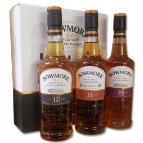 Bowmore Gift Set (12, 15, 18 yrs) - 3 x 20cl