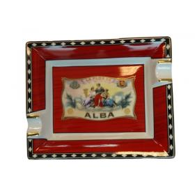 Elie Bleu Porcelain Cigar Ashtray - Alba RED
