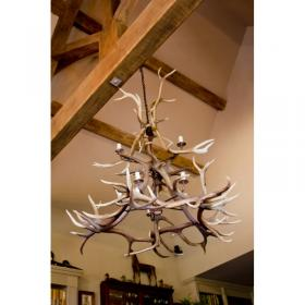 Double Antler Chandelier NEW