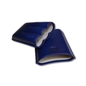 Jemar Leather Cigar Case – Robusto - Three Cigars - Blue