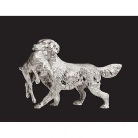 Silver Retriever with Hare