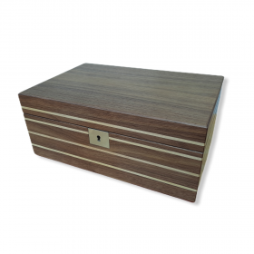 Abingdon Walnut & Maple Humidor - 50 Cigars