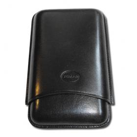 Purera Negro Cigar Case – Three Cigars Black – Large Gauge NEW