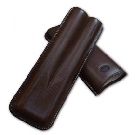 Jemar Leather Cigar Case – Churchill 2 Cigars - Brown