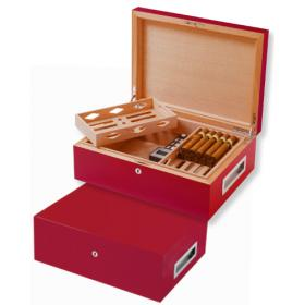 Villa Spa Cigar Humidor – up to 200 cigars capacity – Red