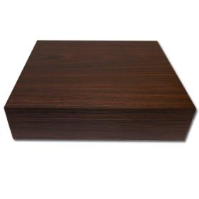 Simply Cigars Walnut Veneer Humidor – 15 Cigar Capacity