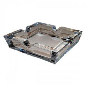 Clear Glass 4 Cigar Rest Ashtray