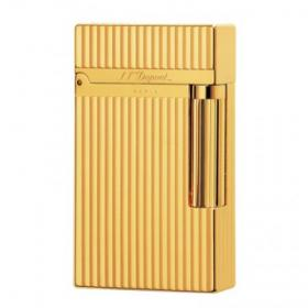 ST Dupont Lighter – Ligne 2 – Gold Vertical Lines