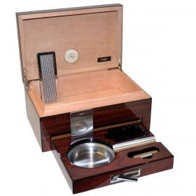 Classic High Lacquered Humidor & Accessories - 15 cigar capacity