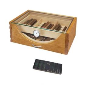 Tiempo Bart – 150 Cigar Capacity Glass Top Humidor